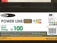 Bateria GEL 100 Amp Inovtech